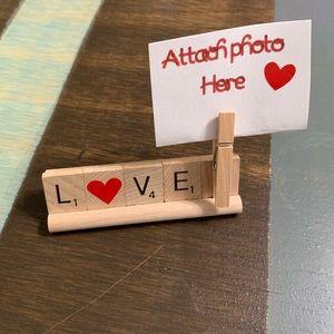 Love ❤️ Photo holder scrabble tray